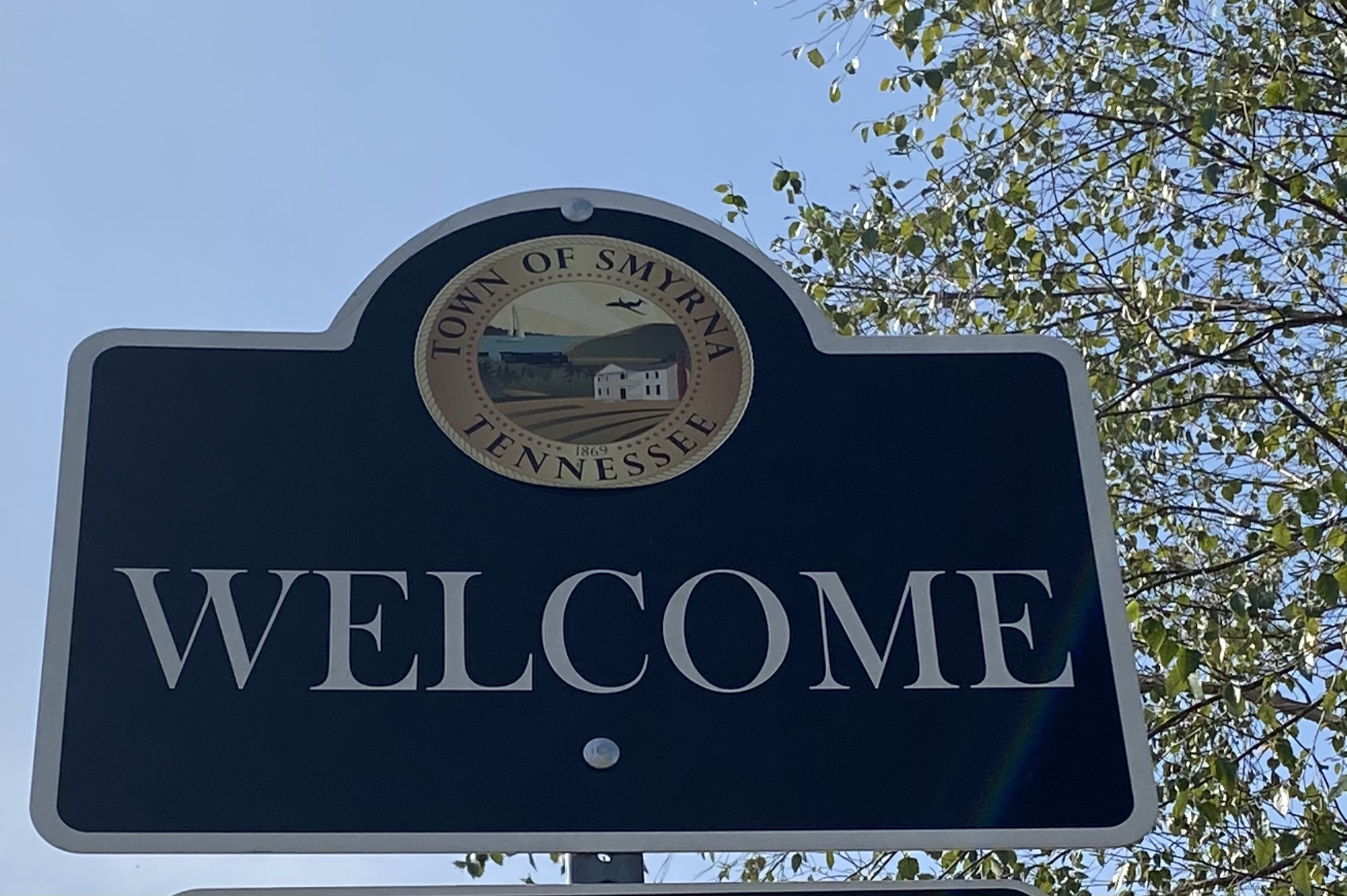 Smyrna Welcome Sign